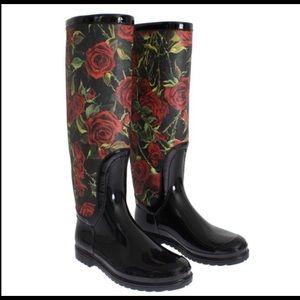 Dolce & Gabbana Rose Rainboots
